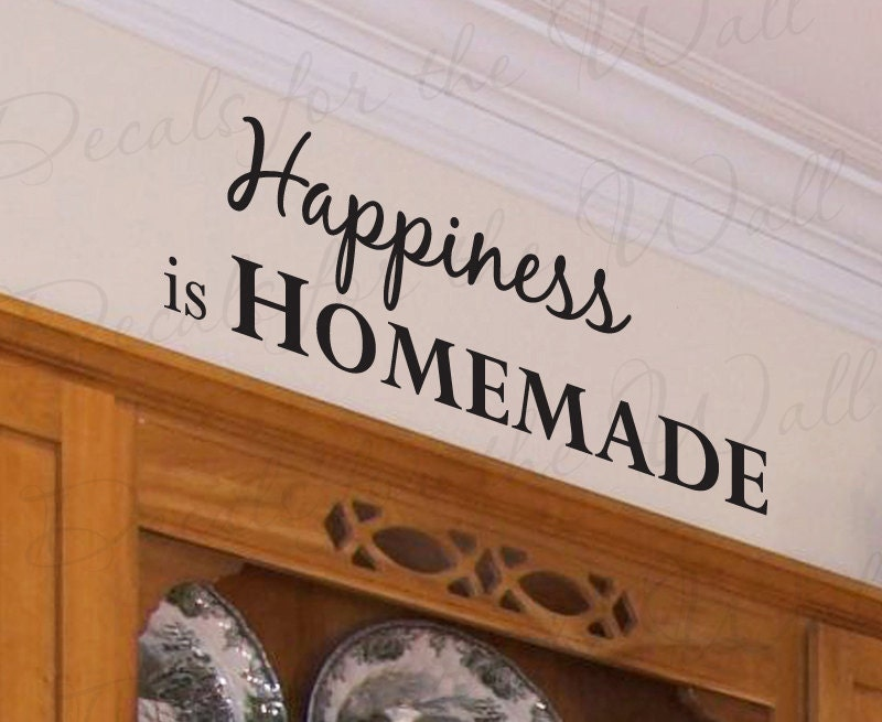 Happiness Homemade Kitchen Dining Room Mom Quote Decal