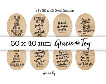 Bible verses- 30 x 40 ovals, Handletterd- Digital Collage Sheet- Printable images- Oval Cabochon images - Bible verses - Floral