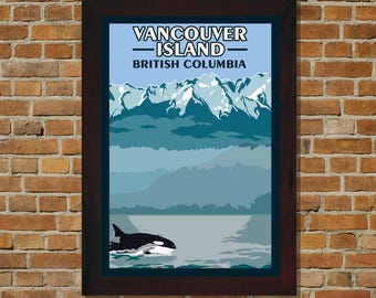 Vancouver Island BC - Vintage Travel Poster