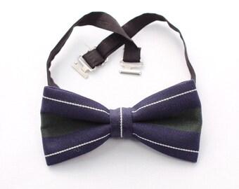 Bow tie, Men bow tie, navy blue bow tie, Wedding bow tie, dark blue bowtie, pre-tied bow tie, mens bowties, mens blue bowtie, olive bowtie