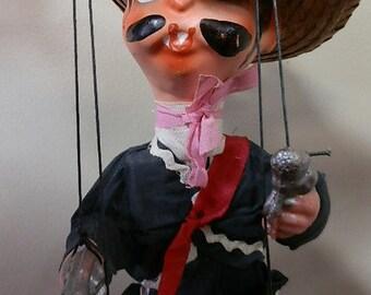 Vintage Mexican Marionette Bandito