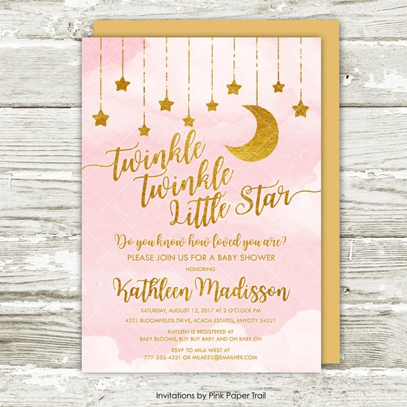 Priceless image in free printable twinkle twinkle little star baby shower invitations