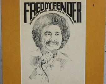 Freddy Fender, Recorded Inside Louisiana State Prison, Birchmount Records, Canada 1975, Tex Mex Country Rock Vinyl