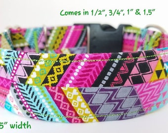 Aztec style dog collar