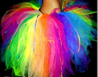 Burning Man Rainbow Light Tutu