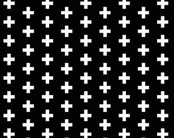 Crib Sheet Toddler Sheet Plus Sign Black White Abstract