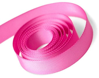 Pink Grosgrain Ribbon 15mm and 23mm Rolls Available