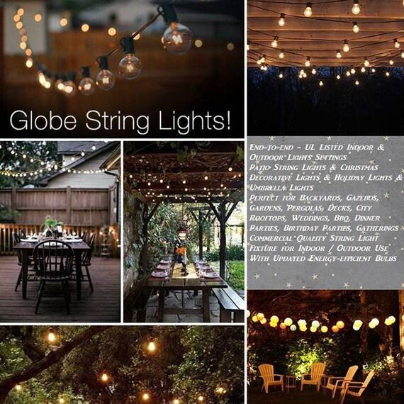 g40 string lights 25 globe bulbs indoor outdoor wedding