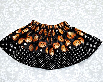 Halloween Pumpkin Twirly Skirt childrens size 1y-7