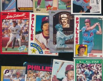 Mike Schmidt 13 card lot PHILLIES