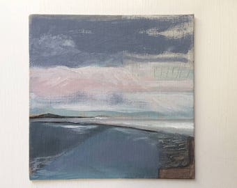 Hint Of Pink - Little Painting - Fiona Charis Carswell 'Straight From The Studio' - RiverRunning