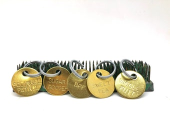 Custom Brass Dog Tag, Keyring, Pet Tag