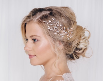 Large wedding hair pins, crystal and pearl hairpins, bridal hairpins, crystal hairpins set, silver, gold or rose gold hairpins - Maisie