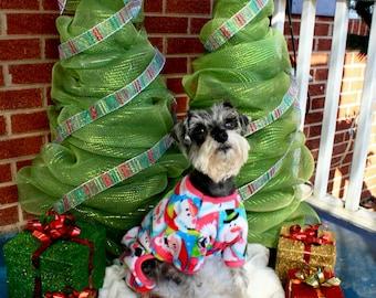 Fleece Christmas  Pet Pajamas