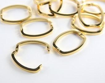 2pcs Gold Tone Necklace Shortener-26.5x20mm (I-80H)