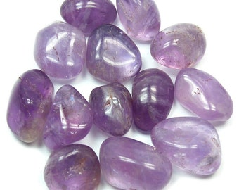 Amethyst, One piece Natural Tumbled Stone, Healing Crystal