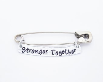 Stronger Together Ally Safety Pin