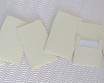 36+ teeny tiny envelope note card sets handmade buttercream ivory mini miniature square party favors weddings stationery guest book