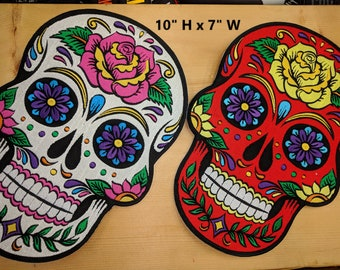Extra Large Sugar Skull Patches (Day of the Dead)