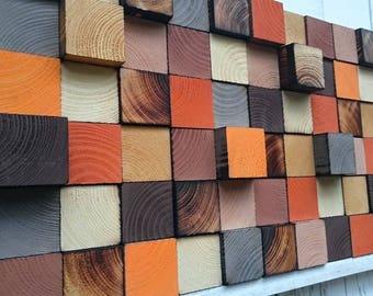Wood Wall Art - 3D Wall Art - Reclaimed Wood Wall Art