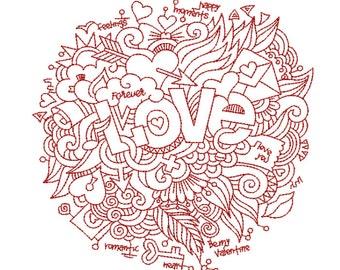 Love Embroidery Design (FL026)