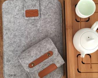 doux en feutre de laine Macbook sleeve ordinateur portable manche macbook sac en feutre feutre manche cadeau macbook manches cadeau pour lui cadeau pour son cadeau de manche macbook