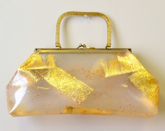 1950s Dorset Rex Vinyl and Lucite Purse
