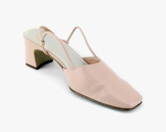 1960s/1970s Blush Pink Dress Pumps Size 7