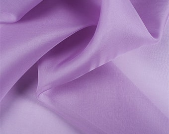 Lavender Silk Organza, Fabric By The Yard
