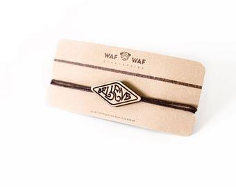 Wooden Believe bracelet.