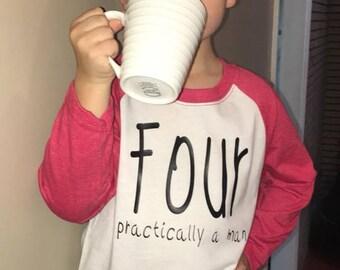 Birthday shirt-FOUR