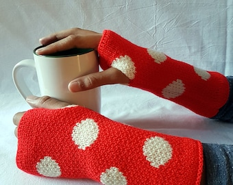 Knit Fingerles Gloves, Mittens, Wrist Warmers, Gift for Her or Him