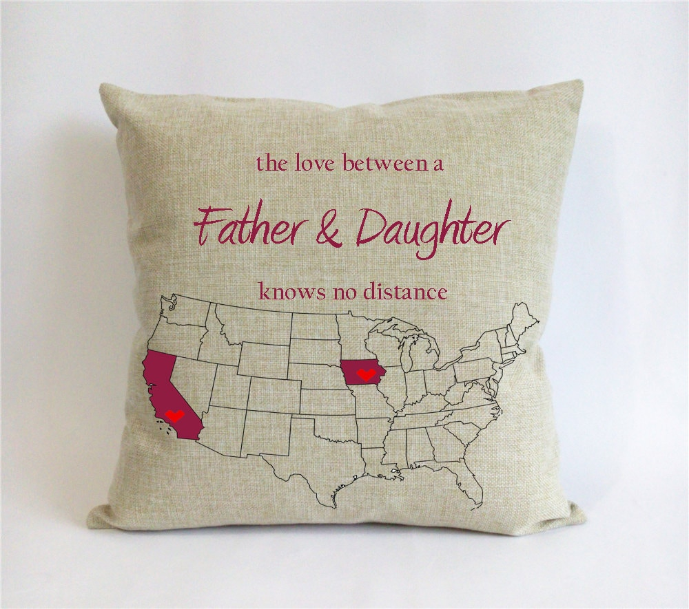 long distance father daughter pillow case-fathers day gift