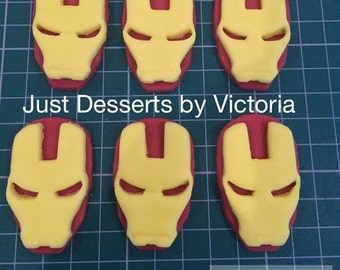 Ironman cupcake toppers set of 6