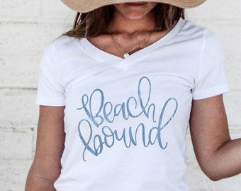Beach Bound - Hand Lettered SVG for cutting machines