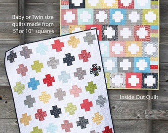 3 for PRICE of 1 - Inside Out, Lucky & Hoopla patterns ~ Cluck Cluck Sew ~ Paper Quilt Pattern