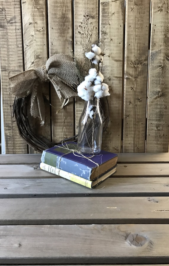 Cotton Decor, Cotton, Farmhouse Decor, Home Decor, Cotton Stalk Decor, Cotton Boll, Cotton Stalk decor, Gift For Her, Handmade Cotton Decor