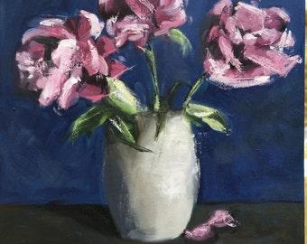 Small Original Flower Oil Painting by Debi Sellinger
