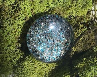 Glass Statement Galactic Ring. Glitter Boho Ring. OOAK