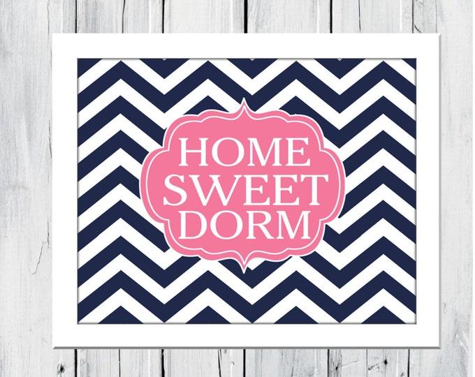 Dorm Decor Custom Colors 11X14 HOME Sweet DORM