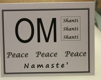 OM Shanti 4 Notecards with envelopes