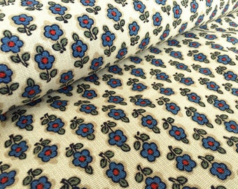 Vintage Country House Fabric 50 x 120 cm: Flower Dekoplus