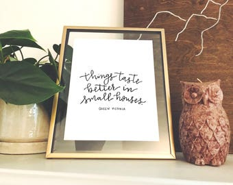 Hand-lettered Queen Victoria Print