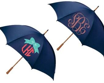 SALE!! Monogrammed Umbrellas - Great Bridesmaids, Birthday, Hostess Gifts! CUSTOM Business Umbrellas