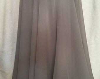 Knee Length Chiffon Ballet Skirt in Gray
