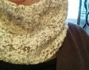 Sparkle Crochet Infinity Scarf