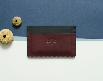 Cardholder Roscoff - black & Garnet