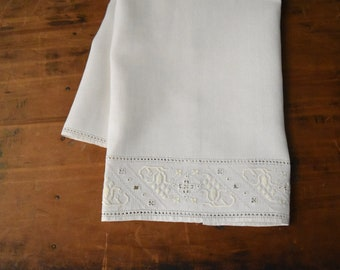 Vintage Linen Tea Towel - Linen Tea Towel - Tea Towel