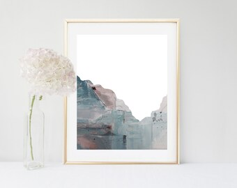 Abstract Mountain, Art Print, Grey Wall Art, Printable Art, Abstract Art, Home Decor, Grey Wall Decor, Contemporary Art, Digital Download