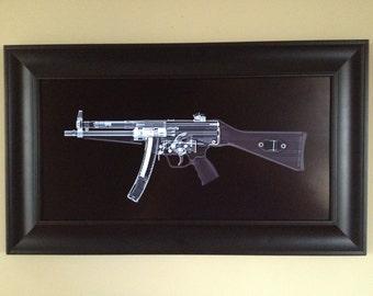 MP5 Submachine gun CAT scan gun print 2- ready to frame